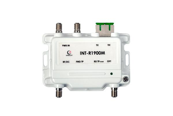 The INT-R1900M is a compact bi-directional optical node, the ideal platform for delivering upstream and downstream DOCSIS, voice, video and high speed data service over FTTB or FTTX applications